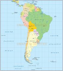 south america map atlas vector south america political map in ai illustrator and pdf formats