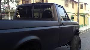 mean black murdered ford truck 88 f250 custom restoration youtube
