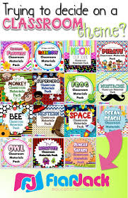 over 15 classroom theme designs to choose from with loads of