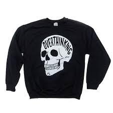 skull sweater overthinking sweater anxiety skull sweatshirt the original
