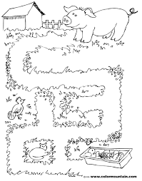 maze pig 1 coloring page jpg 1800 2294 4 kids activity pages