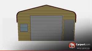 Shed Style Architecture 18 U0027 X 21 U0027 Regular Style Metal Shed With Garage Door Buy Metal