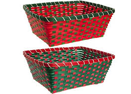 Christmas Basket 2 Assorted 36 X 30 X 14cm Bamboo Christmas Hamper Baskets With