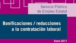 bonificaciones contratos 2016 bonificaciones y reducciones contratos de trabajo enero 2017