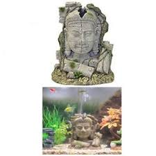 ruin fish tank decor ancient coral air bubbles aquarium