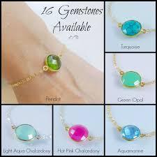 birthstone bracelet for otis b jewelry bezel set birthstone bracelet