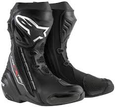 quality motorcycle boots alpinestars supertech r motorcycle boots racing black white vented