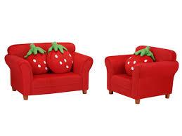 fauteuil canapé enfant canapé ou fauteuil pour enfant en tissu fraisier