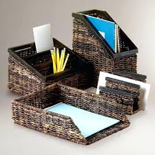 cute desk accessories target 113 office office table cute accessories using brown rattan paper holder and stand file box holder winsome office office table