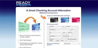ready prepaid card www readydebit visa prepaid banking card