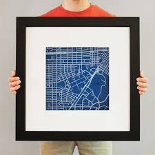 Rice Campus Map Rice University Campus Map Art City Prints