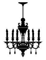 Chandelier Wall Decal Decorative Wall Decals Decalmywall Com