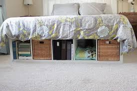 Platform Bed Skirt - creative under bed storage ideas for bedroom hative