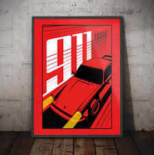 porsche poster porsche 911 turbo poster print graphic design in cornwall