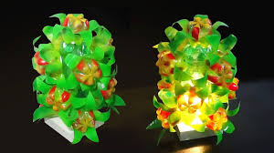 diy home decor floral lamp light shade with plastic bottle