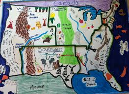 five regions of the united states student project education
