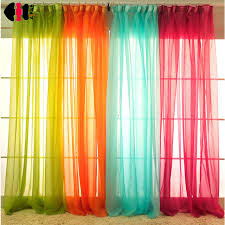 Green And White Curtains Decor White Drapes Sheer Yarn Tulle Orange Curtains Room Divider Green