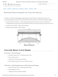 working stress analysis for concrete beams reinforced concrete