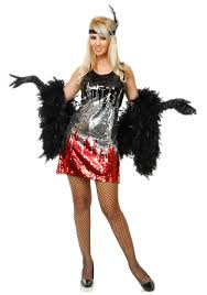 red silver black sequin flapper costume dazzling 1920s dresses