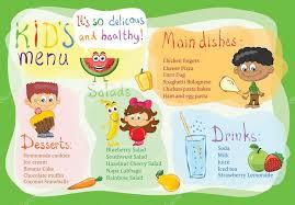 kids menu design template u2014 stock vector virinaflora 113368000