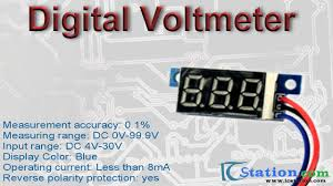 blue led digital voltmeter dc 0 99 9v цифровой вольтметр youtube