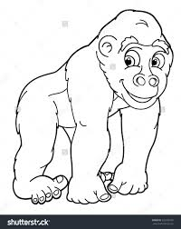 coloring page of gorilla gorilla coloring page free printable animals pages funny stock