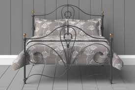 wrought iron cast iron beds with free delivery in black or ivory