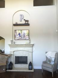 fireplace alcove mantel makes the look faux wood workshop