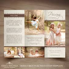 photography trifold brochure template elegant client welcome