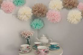 mint wedding decorations mint and pink 10 tissue pom poms wedding reception decorations