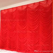 Drape Store Wholesale 3x3m White U0026red Wedding Backdrop Curtain For Wedding