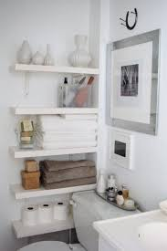 Bathroom White Shelves Floating Bathroom Shelves Contemporary Bathroom The Order