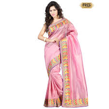 baby pink colour pure jute saree with heavy border work on all