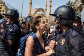 lebanon protesters defy police brutality lebanon al jazeera