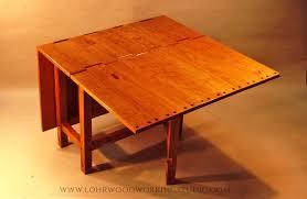 Cherry Drop Leaf Table Wooden Hinge Drop Leaf Table U2014 Lohr Woodworking Studio