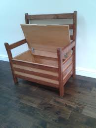 diy oak chair with storage and arms made from recycled wood ideas