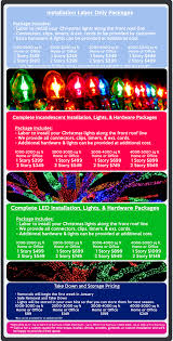 packages and pricing christmas lights