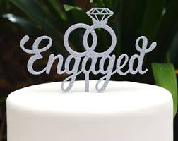 ring cake topper mr and mrs in wedding rings with diamond wedding cake topper