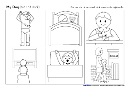 pictures on sequencing worksheets for kindergarten easy