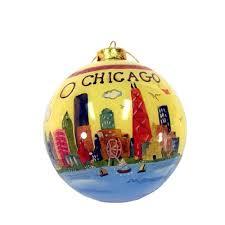 glass chicago ornament