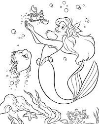 colouring pages coloring princess little mermaid for kids free