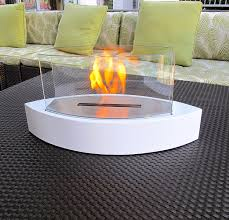 amazon com chic fireplaces concord white table top ventless bio
