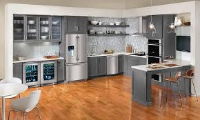grey kitchen cabinets wood floor 15 warm and grey kitchen cabinets home design lover