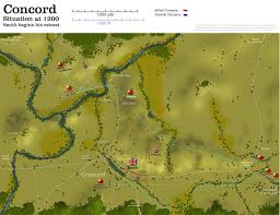 Lexington And Concord Map Obscure Battles Lexington U0026 Concord 1775