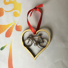 ornament favors bicycle wedding favors for couples who bicycling christmas