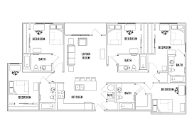 5 bedroom floor plans 5 bed 5 bath penthouse waitlist the standard at athens