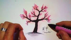 how to draw a japanese cherry tree lapse