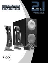 altec lansing home theater 5 1 altec lansing speaker 2100 user guide manualsonline com
