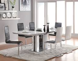 broderick contemporary white chrome dining table