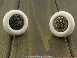 Vintage Kitchen Cabinet Hardware Drawer Knobs Pulls Handles Black White Antique Bronze Retro
